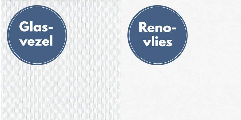 Verschil tussen glasvezel en renovlies behang